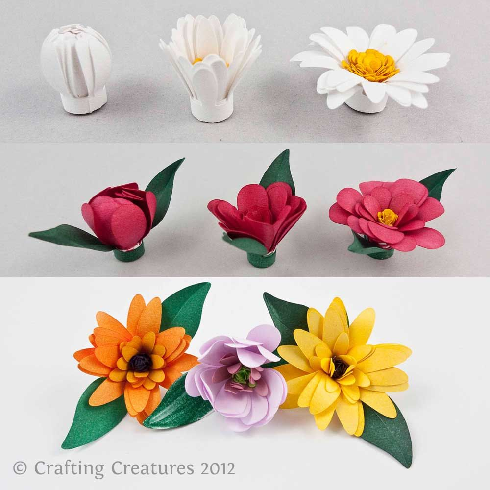 3d fringed flowers paper quilling blossoms svg dxf for Quilling paper craft
