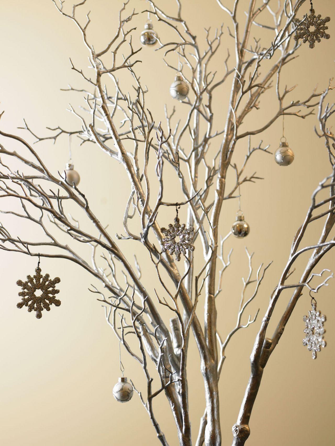 Rbol de navidad con ramas en decoraci n navidad pinterest ramas navidad y decoraci n - Como decorar un arbol seco ...