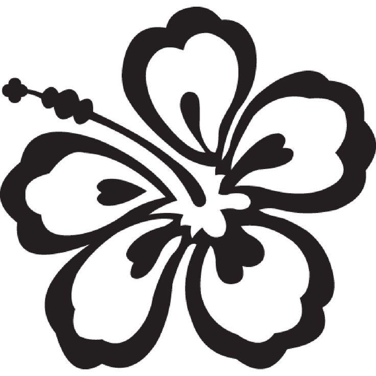 Hang Loose Hawaii Clip Art Hawaiian Flowers Clip Art Black And Flower Clipart Flower Svg Hibiscus Flowers