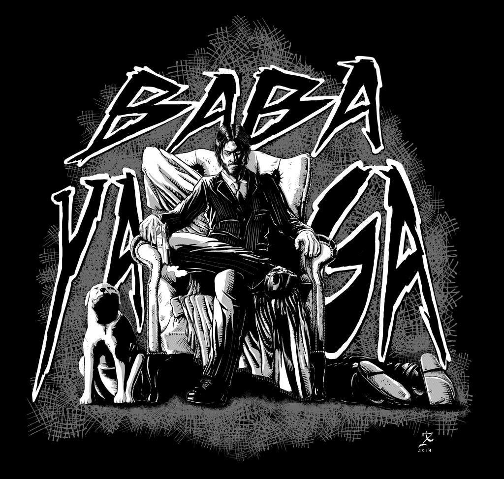 Baba Yaga Teepublic Keanu Reeves John Wick John Wick Movie Baba Yaga John Wick
