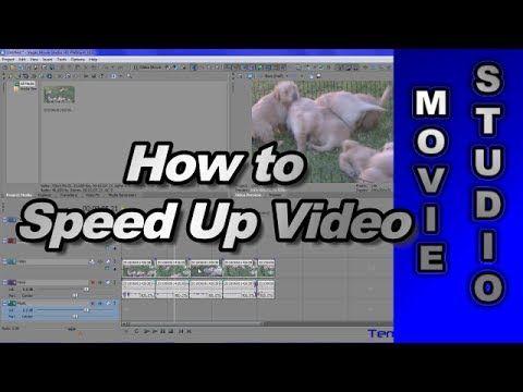 how to speed up video sony vegas movie studio