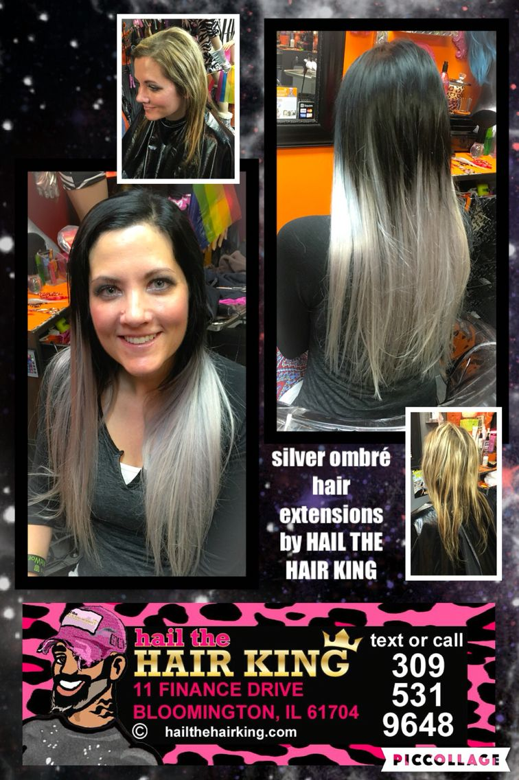 Silver Ombr Hair Extensions By Hail The Hair King Get The Hair Of