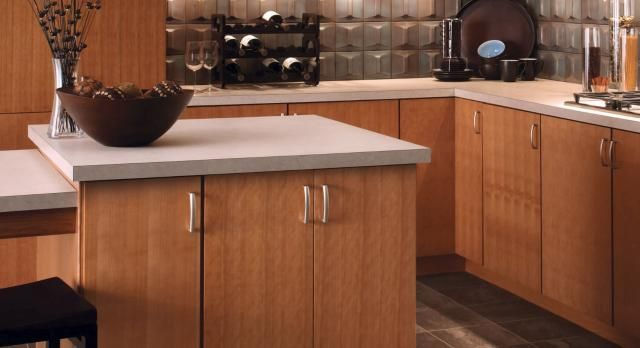 What To Know About Slab Cabinet Doors Cherry Cabinets Kitchen Kitchen Cabinet Doors Kitchen Remodel Small