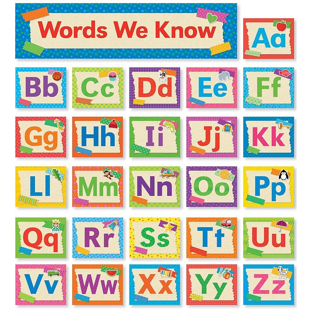 Scholastic Teacher's Friend Tape It Up! Alphabet Mini