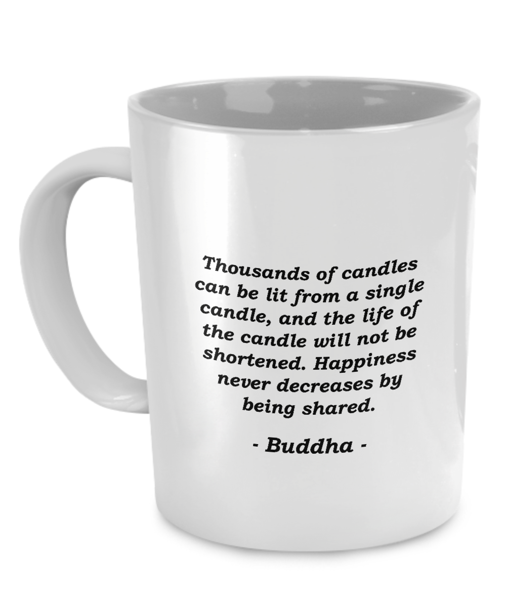 Buddha Happiness Coffee Mug Bud Mugs, Coffee mugs