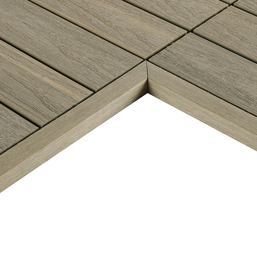 Newtechwood 1 12 Ft X 1 Ft Quick Deck Composite Deck Tile Inside Corner Fascia In Roman Antique 2 Pieces Box Us Qd It Zx Deck Tile Composite Decking Outdoor Flooring