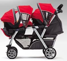 Double Car Seat Stroller Combo For Twins Double Stroller For