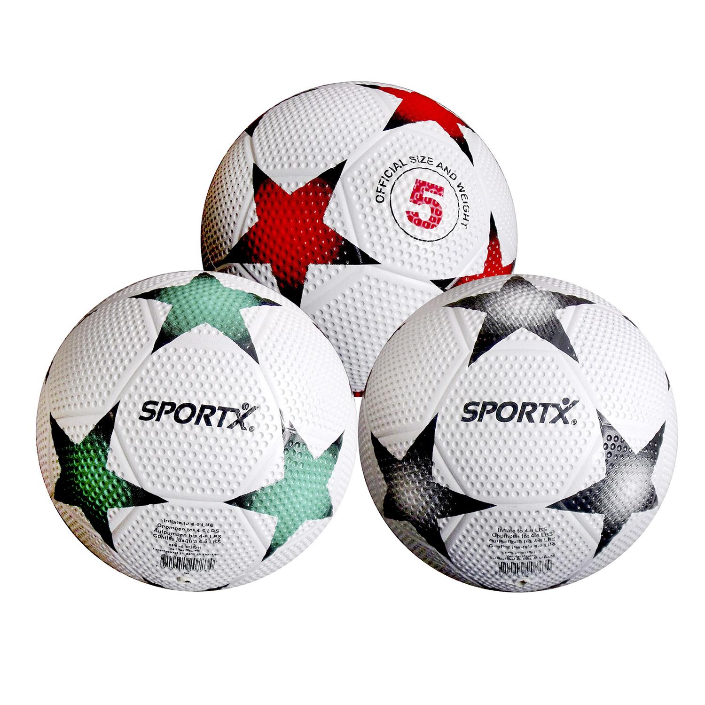 SportX rubber voetbal met star design Verschillende kleuren worden door elkaar geleverd Afmetingen