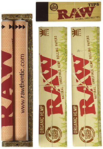 Raw King Size Organic Deal  King Size Slim Organic Rolling Papers 110mm Rolling Machine