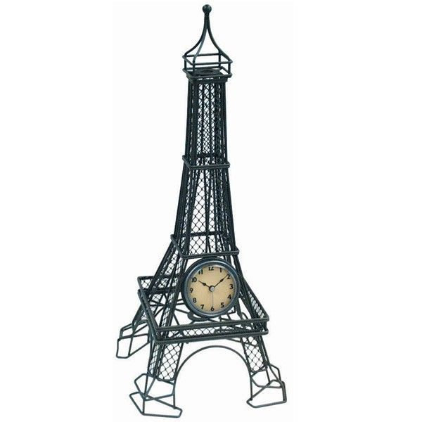 Wrapables.com - Eiffel Tower Table Clock, $39.95 (http://www.wrapables.com/a59239/)