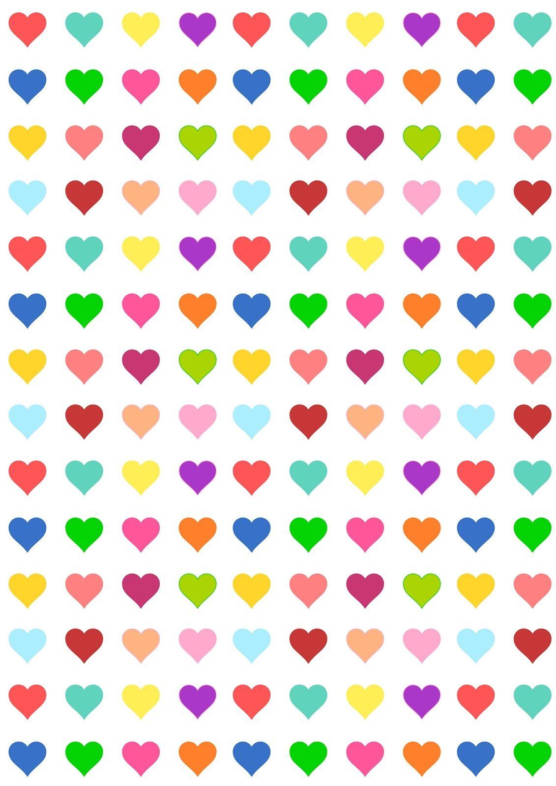 Free Printable Heart Pattern Paper