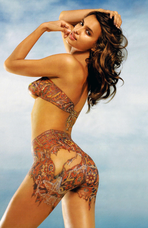 irina shayk tattoo nude