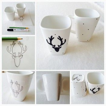 tasse t te de cerf by jasna aka chiara et moi diy. Black Bedroom Furniture Sets. Home Design Ideas
