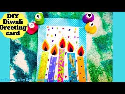 DIY Diwali greeting card tutorial | Greeting card making ideas | Happy Diwali