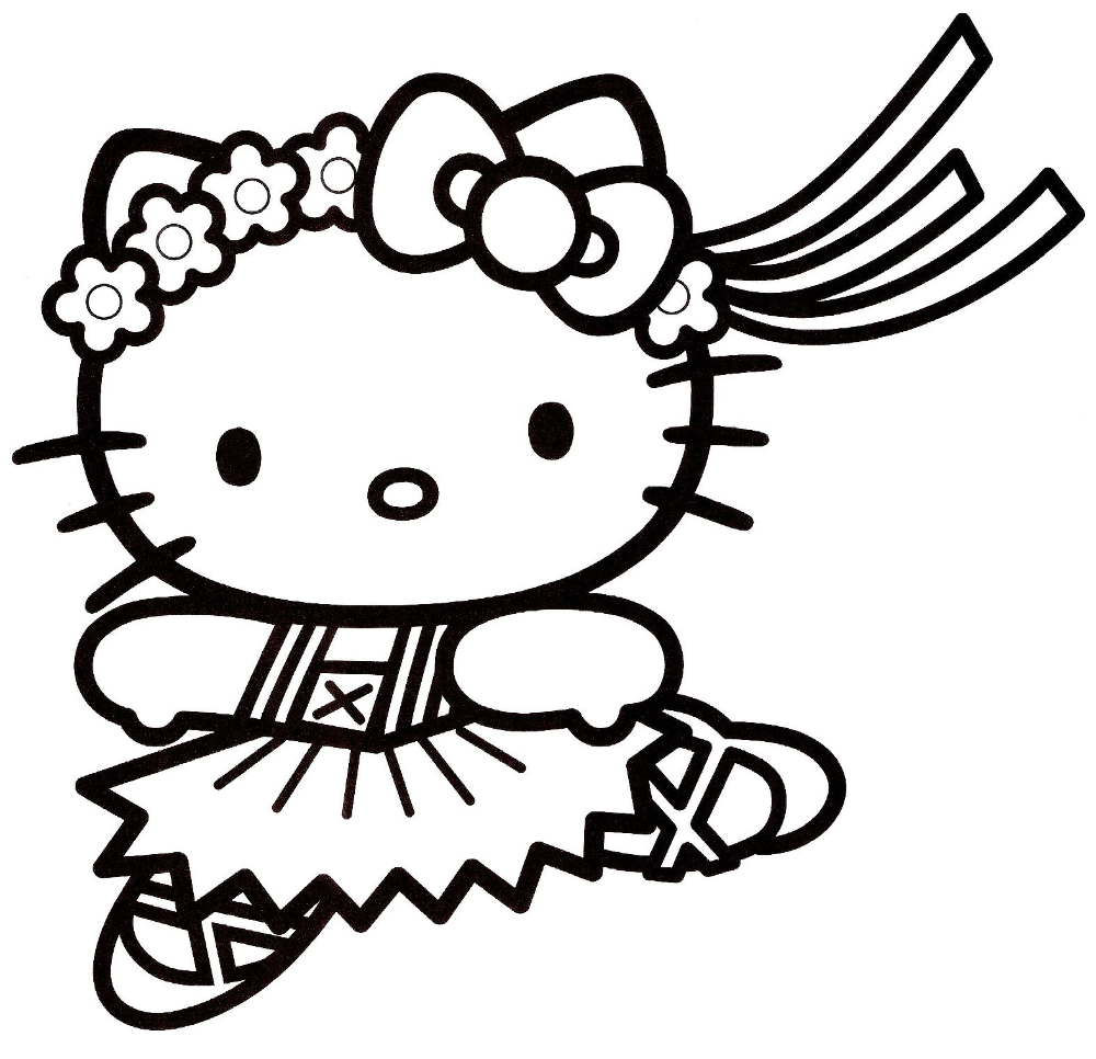 Image A Colorier Hello Kitty A Imprimer - Free To Print