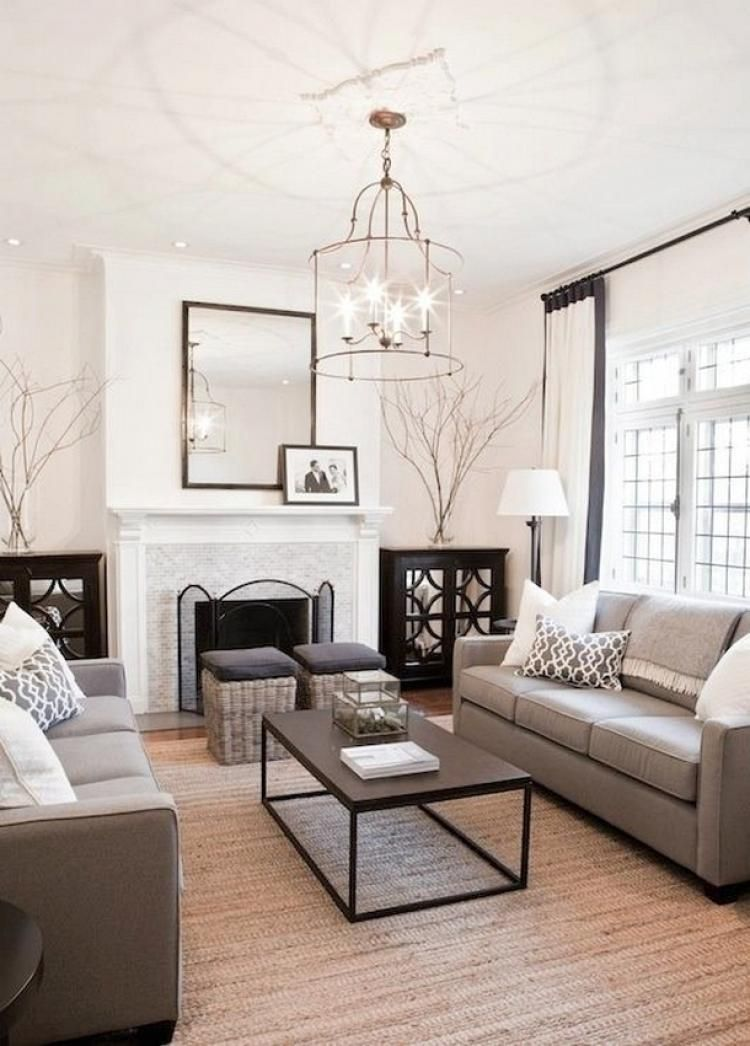 60 Best Black And Cream Living Room Design Ideas Neutral Living Room Design Family Room Design Family Living Rooms