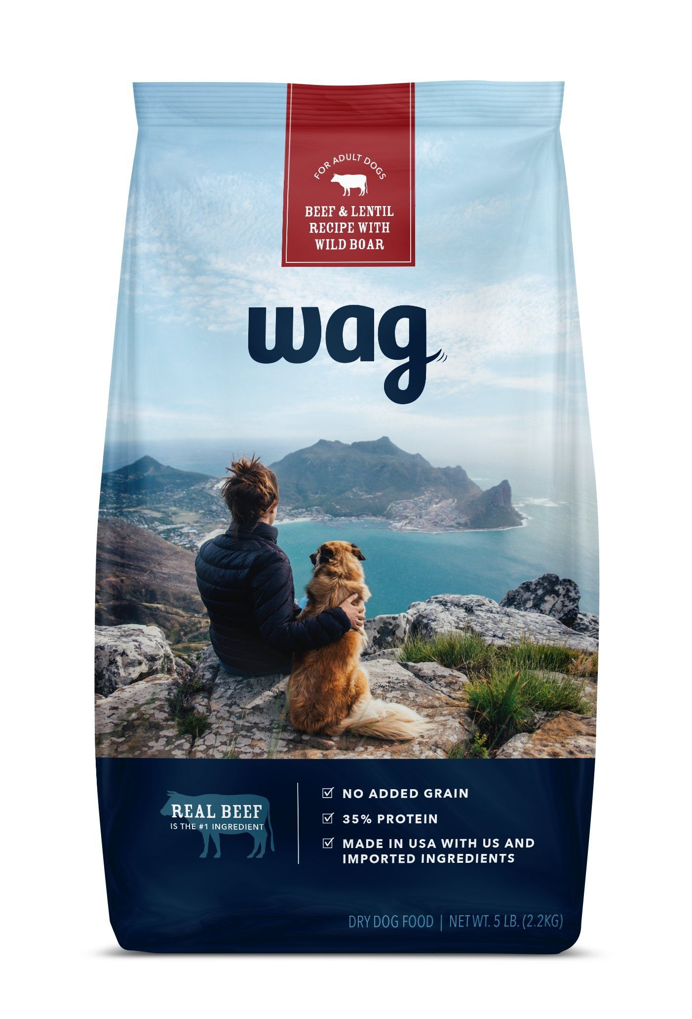 Wag Dry Dog Food No Added Grain Beef And Lentil Recipe With Wild
