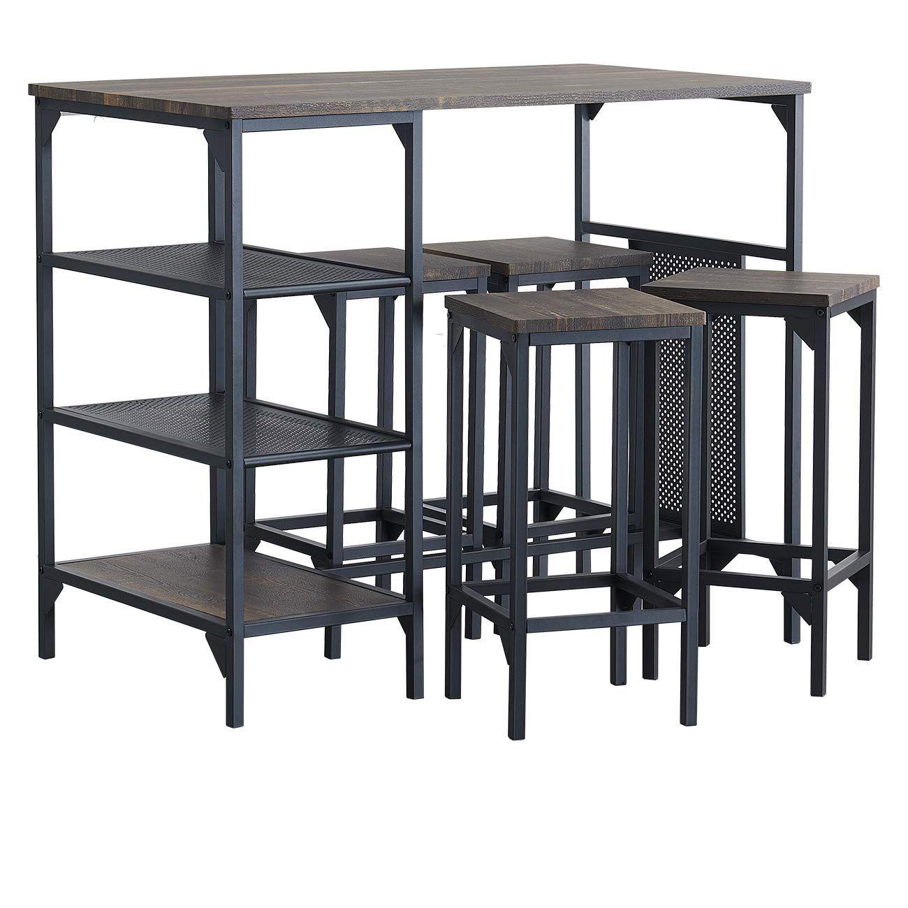 Amazon Com O K Furniture 5 Piece Dining Room Table Set Bar Pub