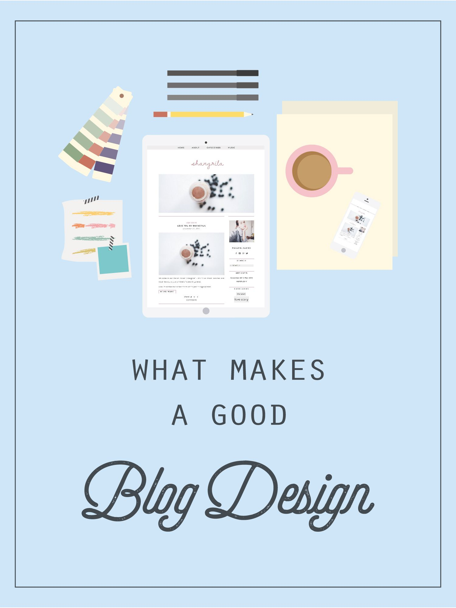 What Makes A Good Blog Design? Free Blog Template, Blogger ...