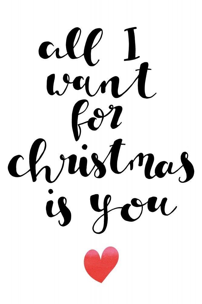 All I Want Als Poster Bei Artboxone Kaufen Weihnachtswunsch Spruch Kalligraphie Weihnachten Weihnachtsbuchstaben