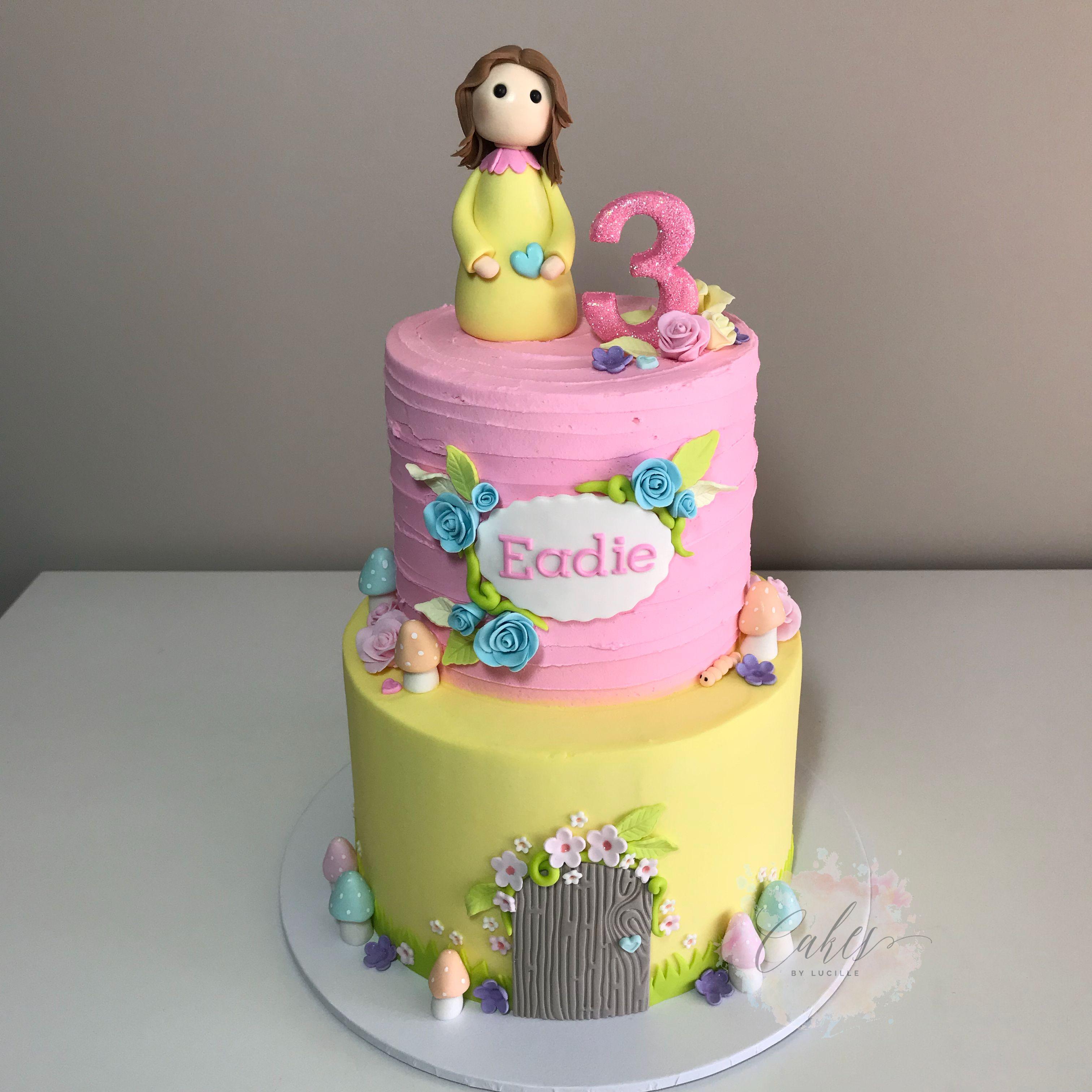 fairy theme, 2 tier buttercream. | Victoria cakes, Cake ...