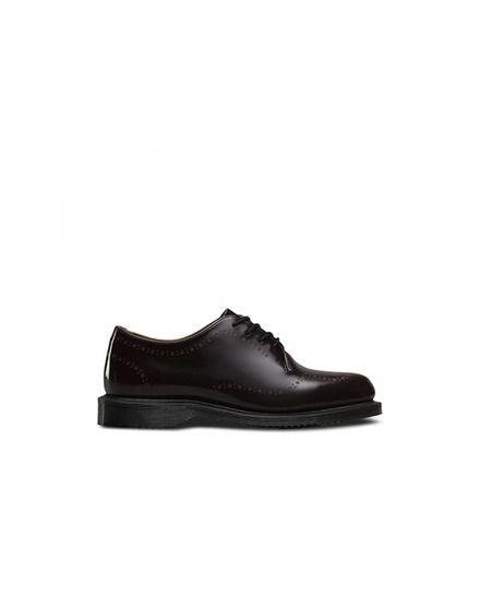 5064d5561af Zapatos de cordones mujer Dr. Martens de cuero burdeos