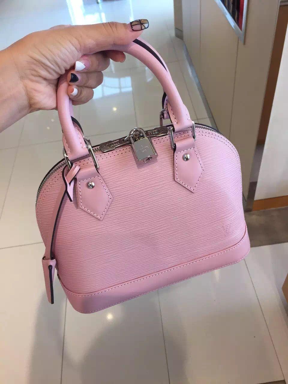 56ebf2e518e4 Louis Vuitton Alma BB Bag M41327 Rose Ballerine