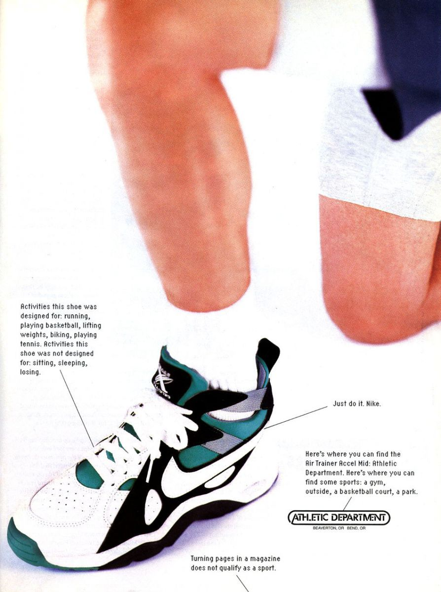 reputable site dc310 60080 Vintage Ad Nike Air Trainer Accel  Sole Collector