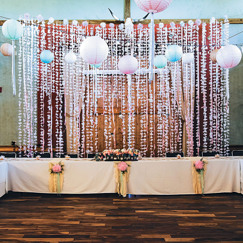 Head Table Wedding Decor Idea