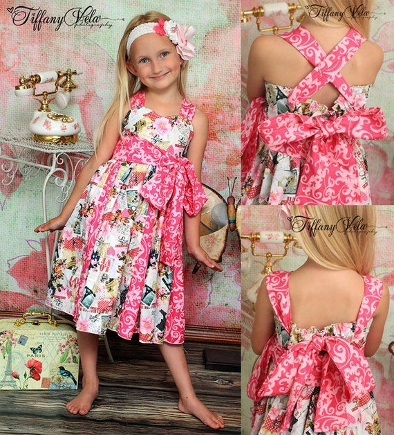 a8843b1fa Gwen s Sweetheart Godet Dress PDF Pattern size 6-12 months to size 8 ...