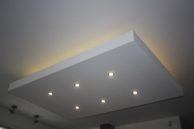 D caissement d croch design faux plafond ilot central for Installer ruban led plafond
