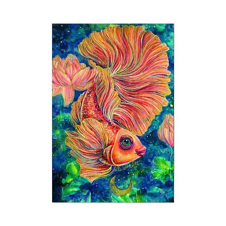 Betta Fish Watercolor Art