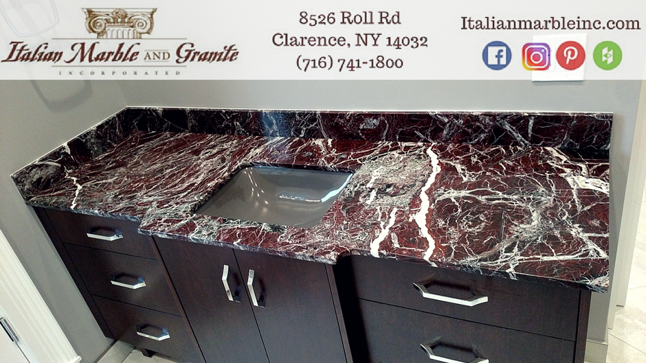 Beautiful Rosso Levanto Marble Vanity Top Rossolevanto Marble Bathroomremodel Marble Vanity Tops Marble Vanity Finished Bathrooms