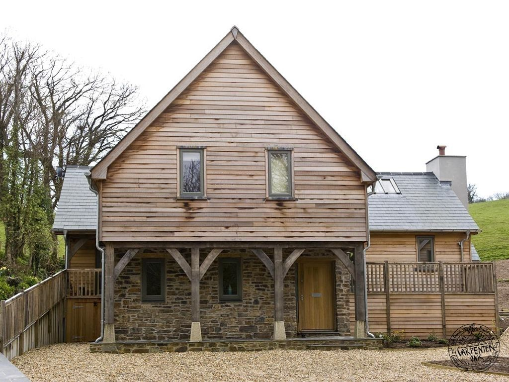 Completed Exterior With Timber Cladding  Casestudy Traditional Oak Framed Open Plan Newbuild House Talland Bay Cornwall CP  1,024×768 Pixels | Pinterest ...