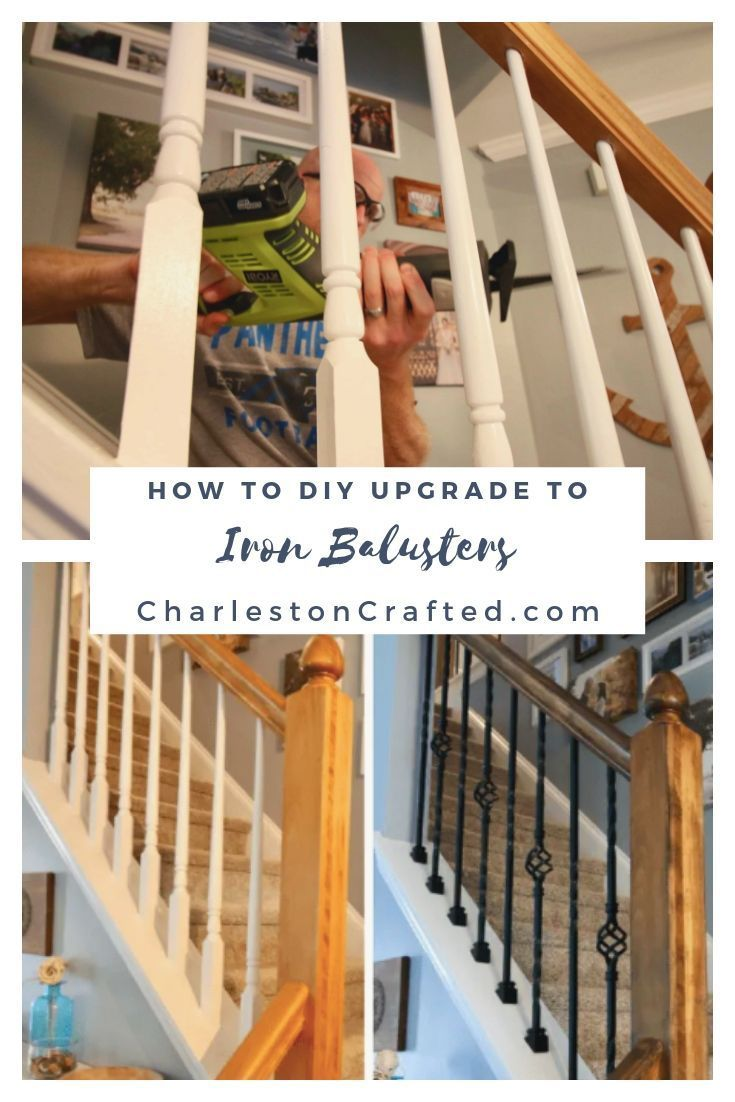 Best How To Replace Wooden Balusters With Iron The Easy And 640 x 480