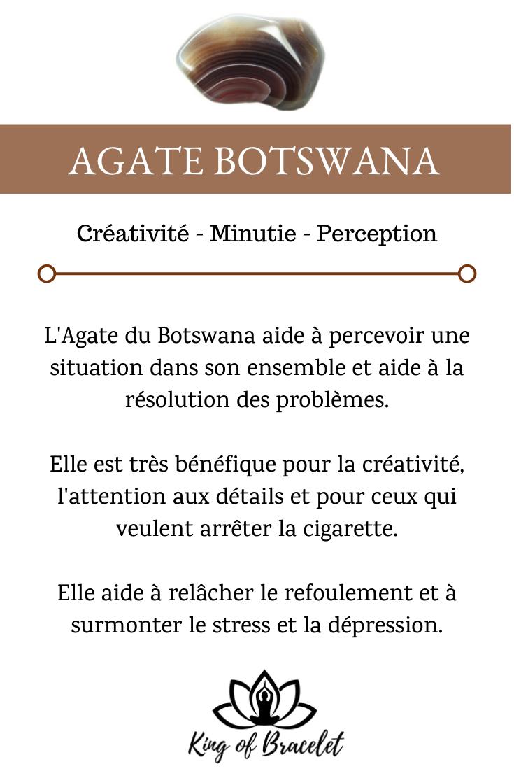 Agate du Botswana – Signification, Propriétés et Vertus de la Pierre en Lithothérapie