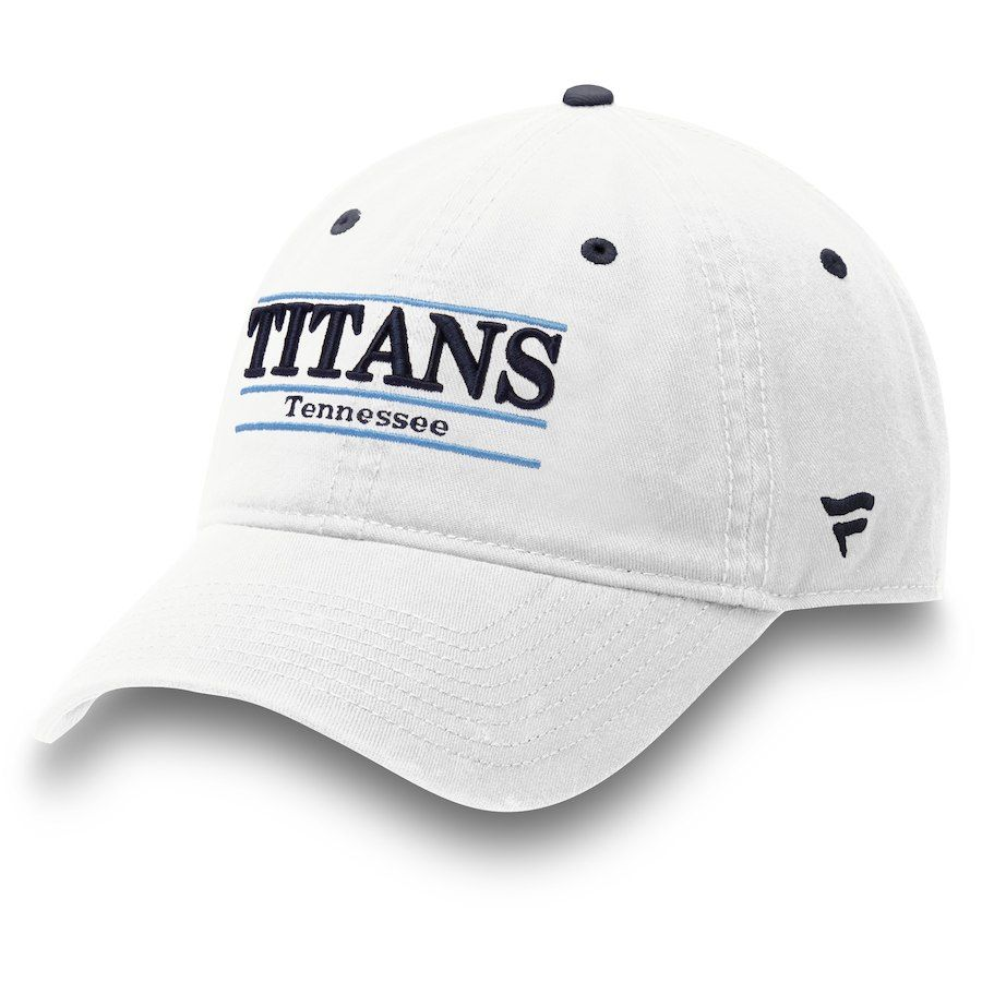 half off b7a92 2a9d9 Men s Tennessee Titans NFL Pro Line by Fanatics Branded White Classic Bar Adjustable  Hat, Your Price   21.99