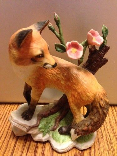 """Lenox """"Early Morning Surprise"""" Red Fox Figurine Woodland"""
