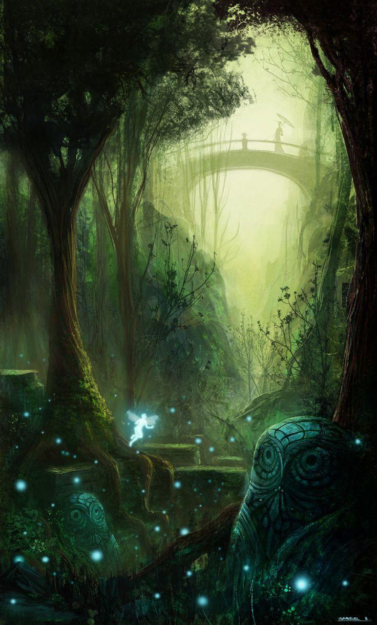 Fairy Garden Fantasy Landscape Fantasy Artwork Fantasy Art