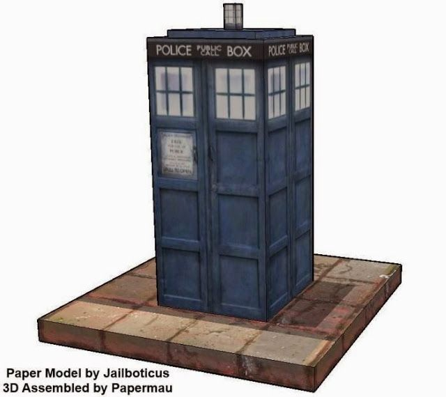 Doctor Who - Easy-To-Build Realistic Tardis Paper Model - by Jailboticus - == - An easy-to-build Dr. Who`s Tardis paper model with realistic textures and occupying only one sheet of paper, created by designer Jailboticus.