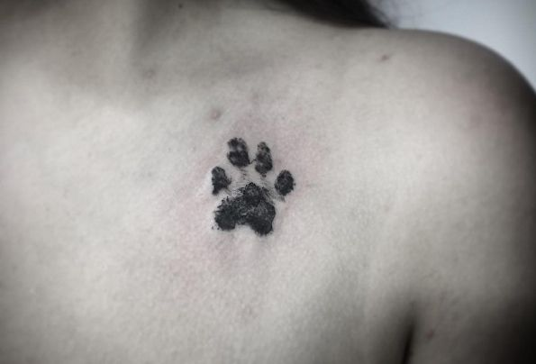 32 Perfect Paw Print Tattoos To Immortalize Your Furry Friend Pawprint Tattoo Dog Paw Tattoo Print Tattoos