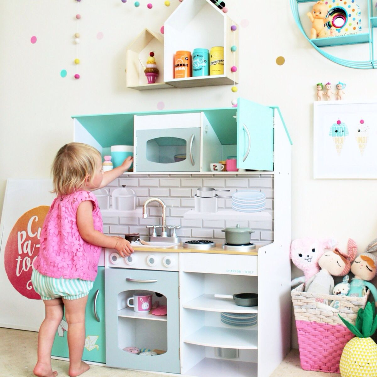 Play Kitchen - peppermint playhouse - adorable double sided kitchen ...
