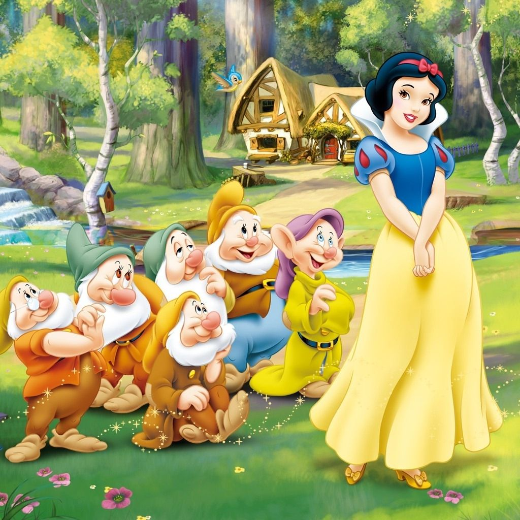 free snow white and the seven dwarfs hd ipad wallpaper designs