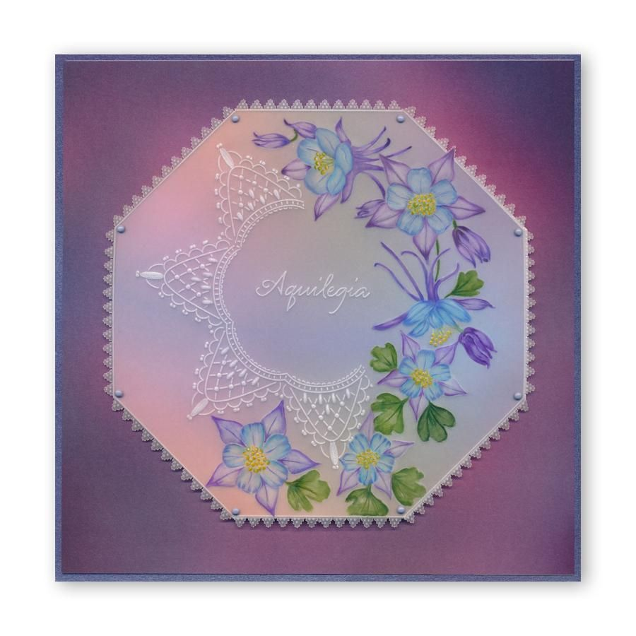 Clarity Stamps Tinas Forget Me Not /& Butterflies Floral Delight A5 Square Groovi Plate