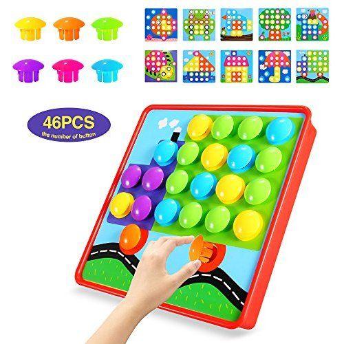 Geekper - Next X Button Art Color Matching Mosaic Pegboard ...