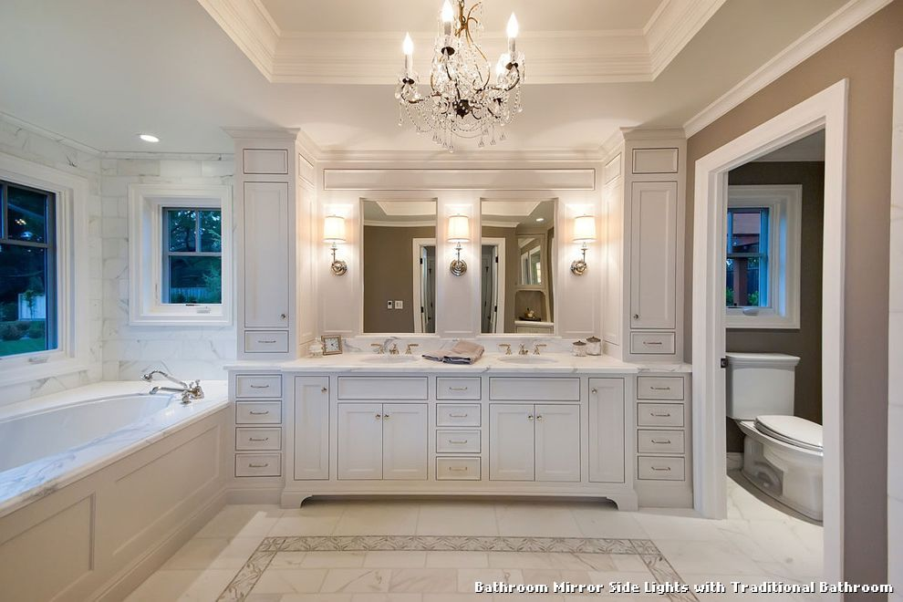 Bathroom Mirror Side Lights Bathroom Pinterest Bathroom - Bathroom mirror with side lights