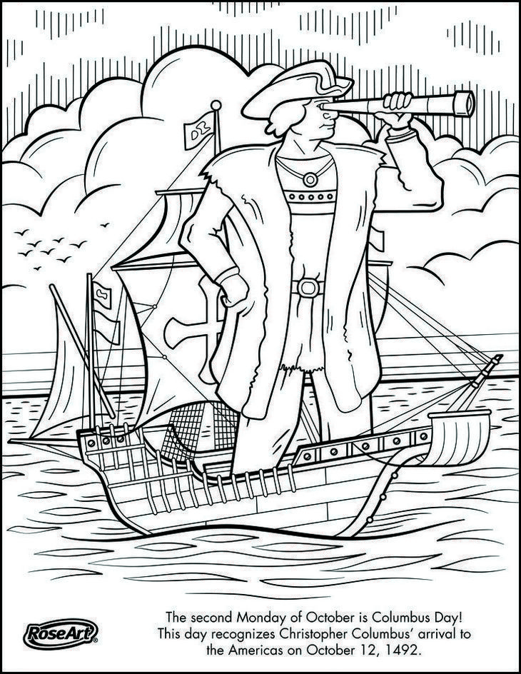 Christopher Columbus Coloring Page To Print figures coloring pages