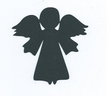 christmas angels silhouette little angel silhouette set of 6 1 99 via etsy angel 2379