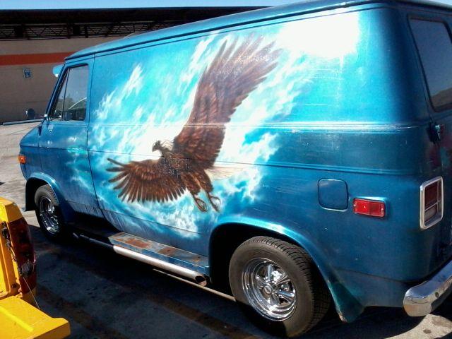You Won T Be Soar When You Fly Down The Road In This Eagle Van Cool Vans Custom Vans Van