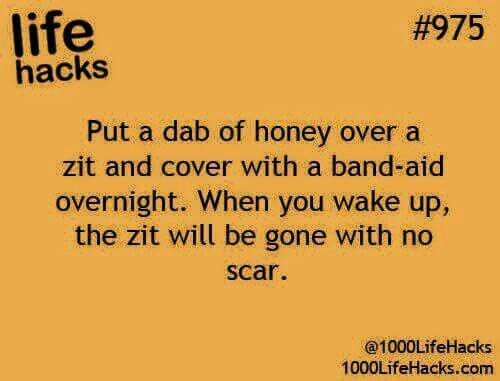 Natural zit removal